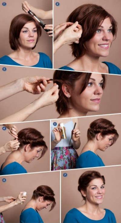 Easy Greek hairstyles for short hair