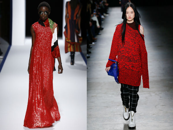 Fashion colors 2018 bright red