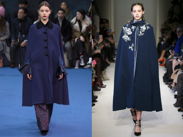 Blue Cape Trench Coats
