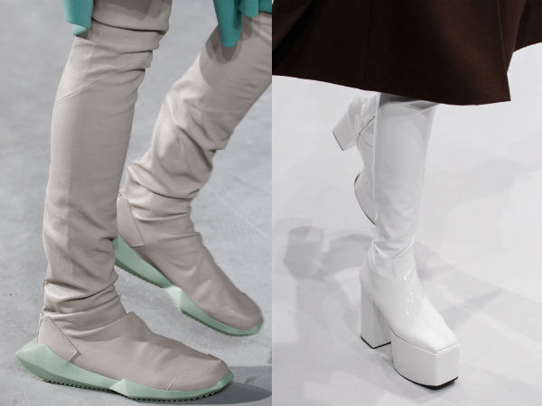 White winter 2018 boots