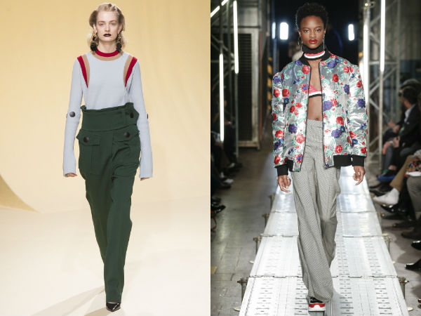 Designs elegant high waist pants