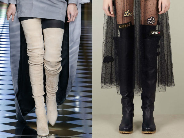 Fashion over the knee womens boots