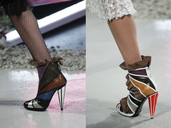 Ankle boots with frills Fall Winter 2017 2018