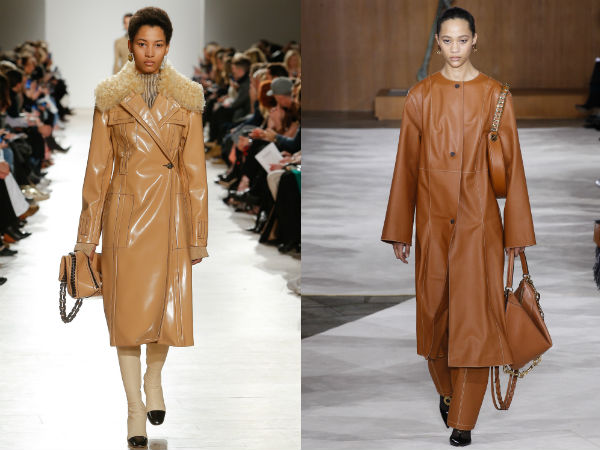 Leather Trench Coats Fall Winter 2017 2018