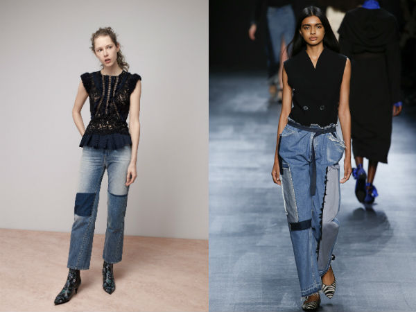 Jeans Fall winter 2017 2018: combined fabrics
