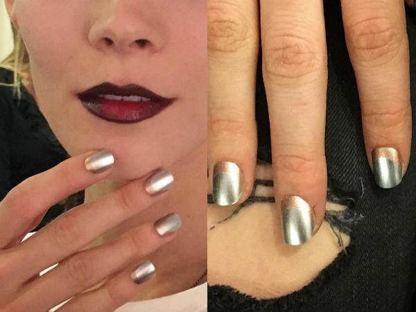 Silver nails designs