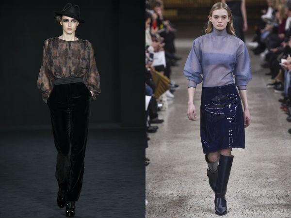 Transparent blouses designs 2018