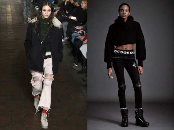 Women torn jeans fall 2017 winter 2018