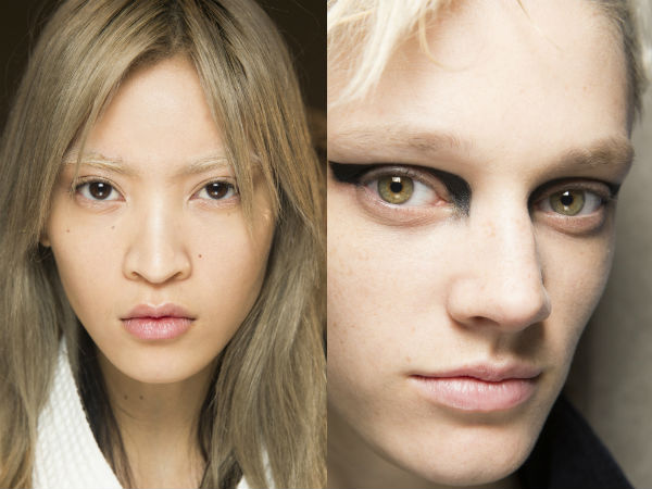 makeup trends fall 2017 winter 2018: bleached eyebrows