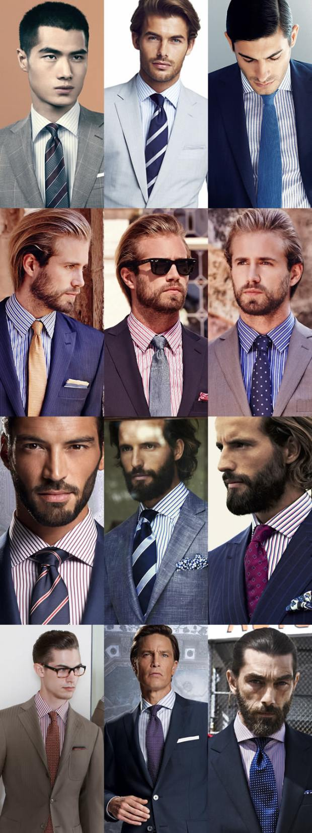 How to match a tie with a striped shirt