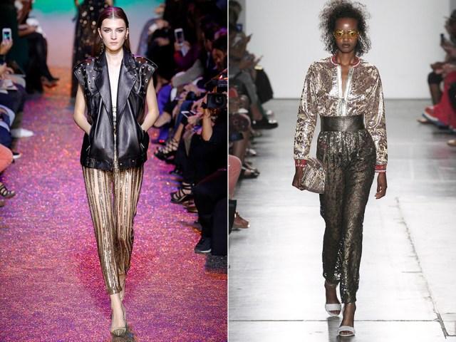2017 Metallic color pants