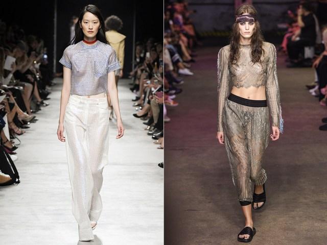 Women transparent pants