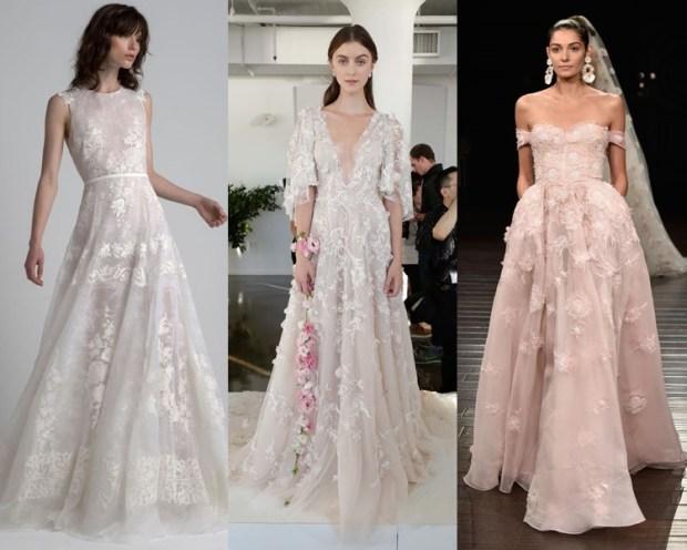 Flowered wedding dresses 2018