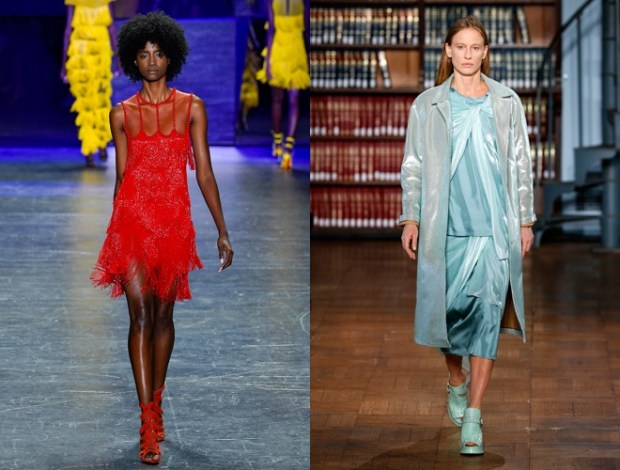 Colors presented at New York fashion Week spring-summer 2018