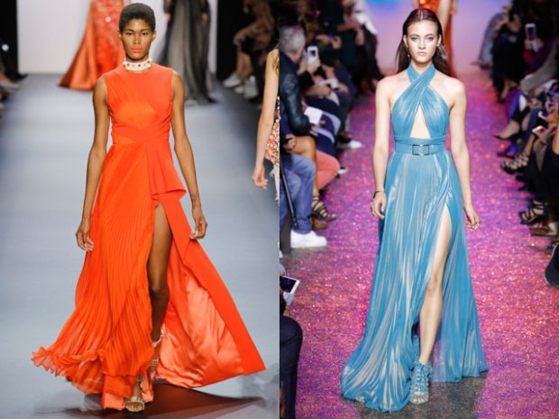 Evening dresses spring summer 2018 with pleats