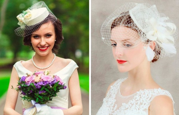 Wedding hairstyle with hat