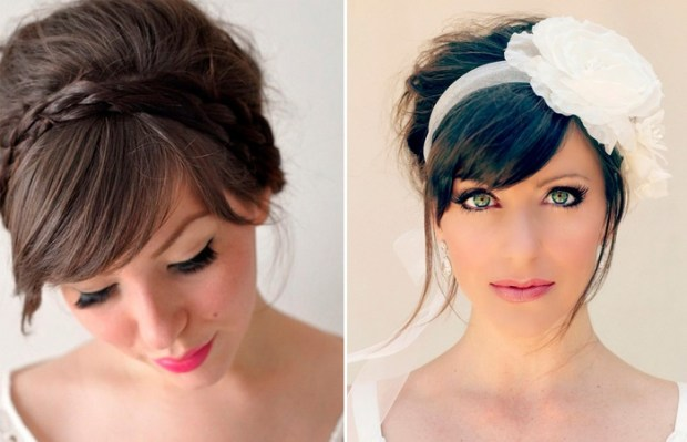 wedding hairstyle with bangs 2018