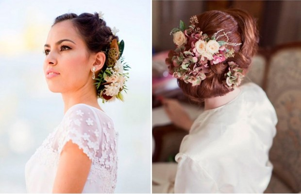 wedding hairstyle ideas with flowers