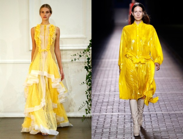 London fashion week spring summer 2018: yellow colour