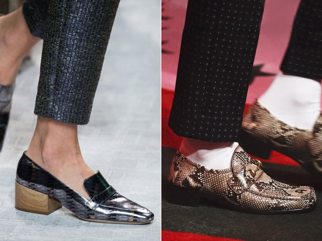 Women shoes in male style
