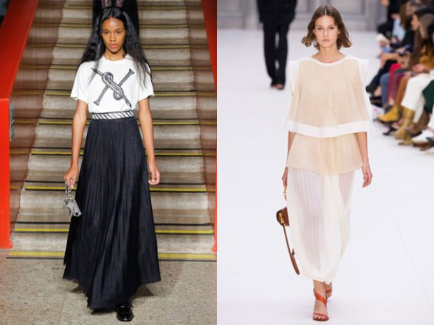 Pleated skirts spring summer 2018