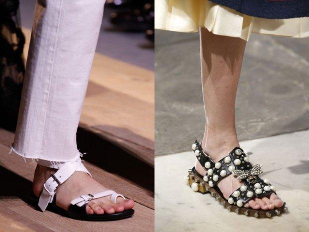 flat sole sandals spring summer 2018