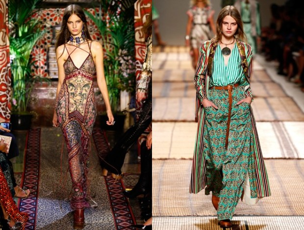 Boho chic at Milan fashion week spring summer 2018