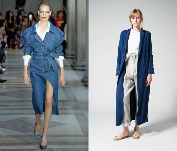 Fashion denim coat