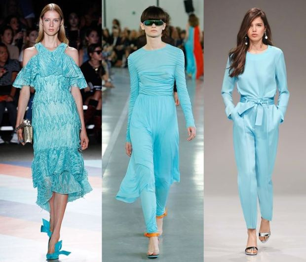 Turquoise color spring summer 2018