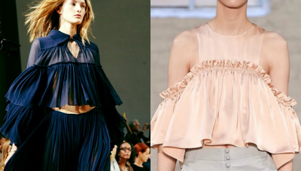 Tops with ruffles spring 2018