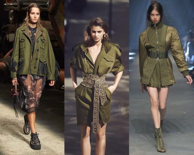 Women jacket 2018 military style