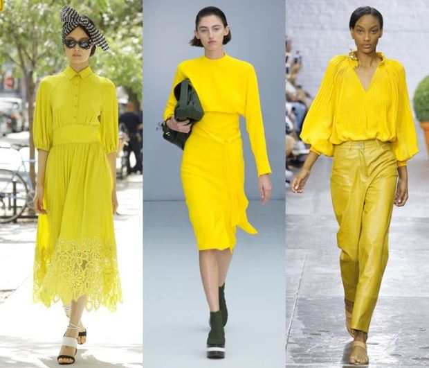 fashion yellow color spring summer 2018