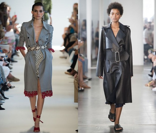 Coats with belts spring-summer 2018