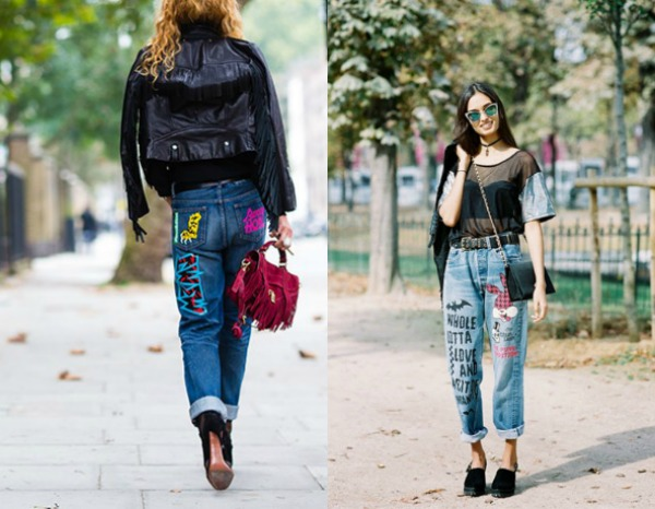 Jeans with applications 2018 spring summer