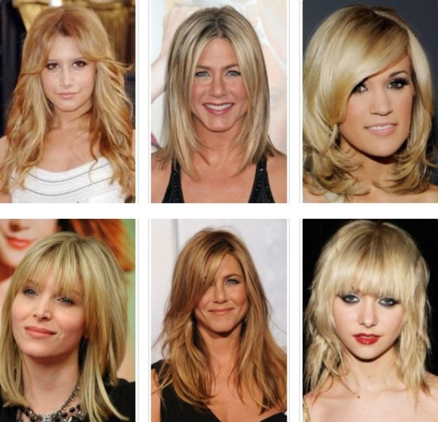 medium length blonde hair waterfalls
