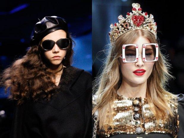 Fashion accessories fall winter 2018 2019: sunglasses