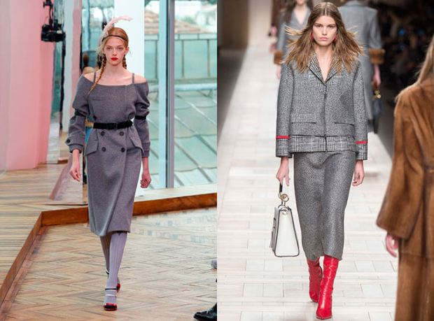 Fashion grey color fall winter 2018 2019