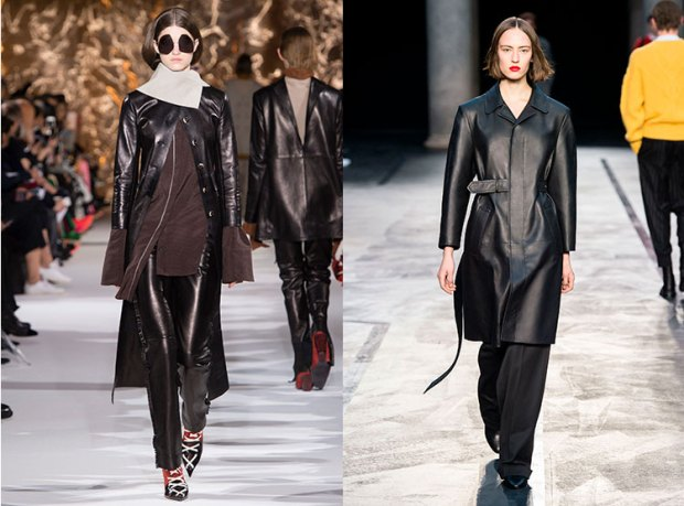 2017 2019 fall-winter coats: leather