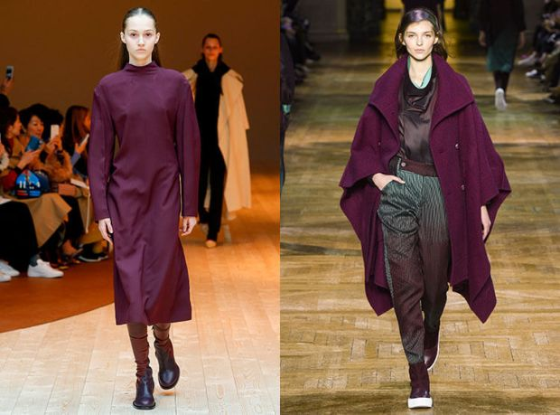 Fashion wine color fall-winter 2018 2019