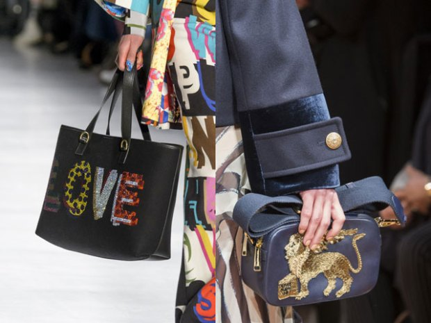 Women handbags with embroidery