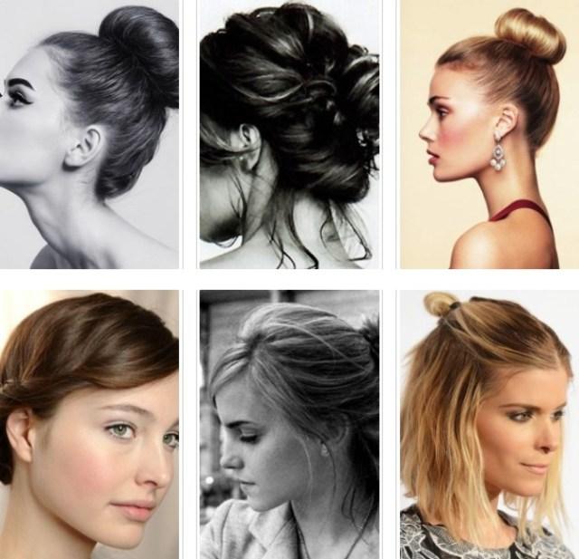 Girl hair bun