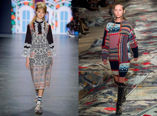 Dresses fall 2018 winter 2019: folk motives