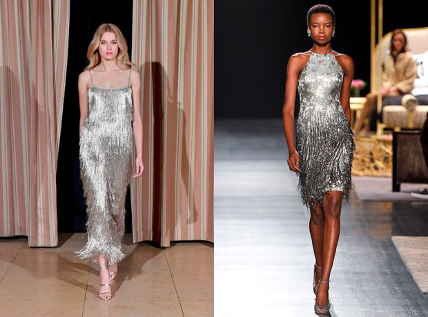 Cocktail dresses fall winter 2018 2019: fringes