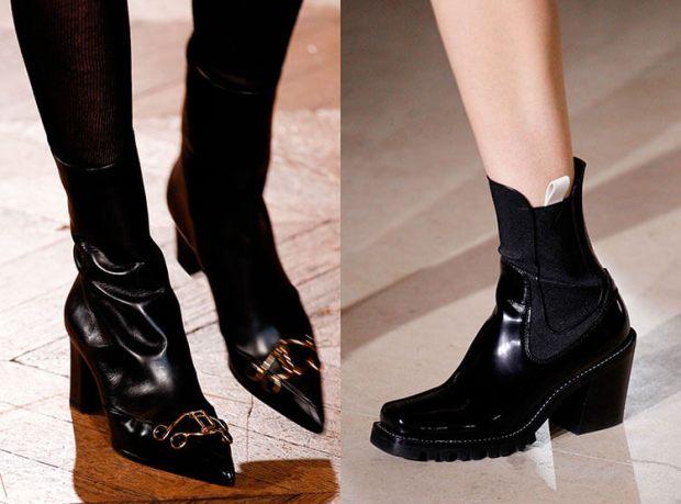 black genuine leather