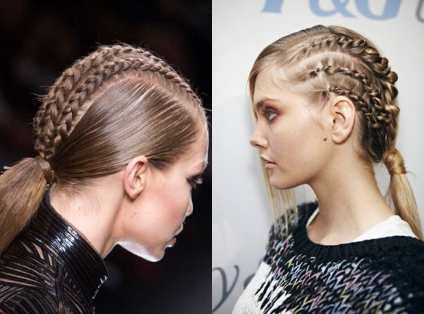 Trendy braids for medium length hair