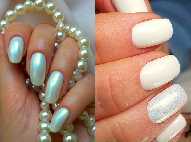 Gel pearl nails