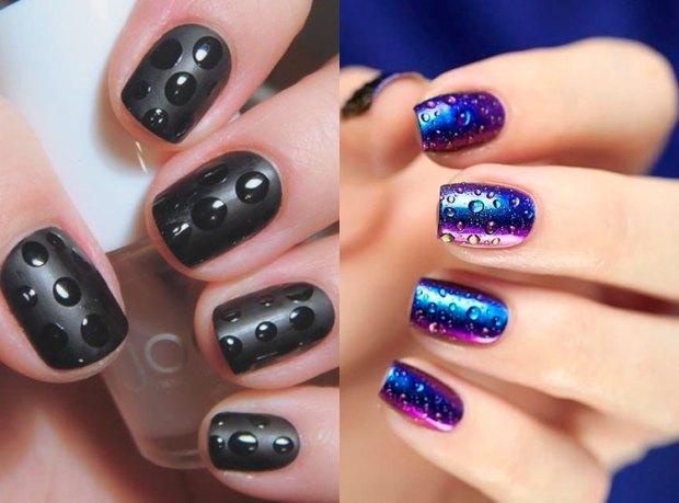 Fashion nail drawings