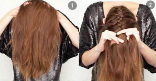 Braided bun for long hair