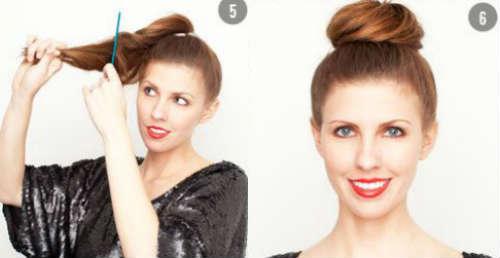 Step by step bun hairstyle