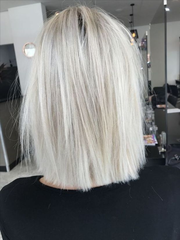 Hair colors 2019 platinum blonde